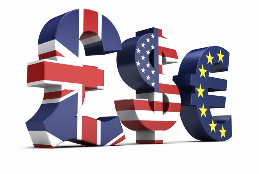 GBP, US and Euro currency signs